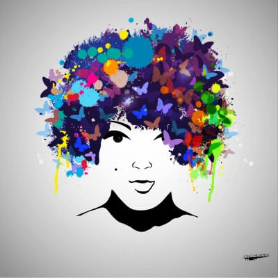 Afro lady V2